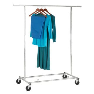 Honey-Can-Do GAR-01304 Chrome Commercial Collapsible Garment Rack with Wheels