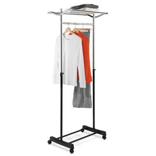 Honey-Can-Do GAR-01173 Garment Rack with Top Shelf