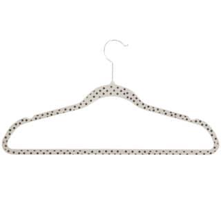 Honey-Can-Do HNG-03822 Dots Velvet Hangers (20-pack)
