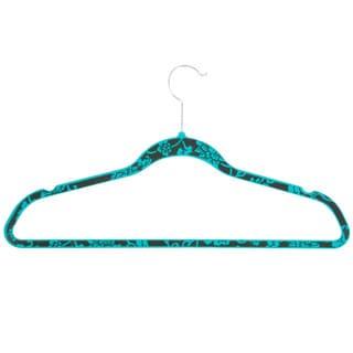 Honey-Can-Do HNG-03819 Blue Hawaiian Velvet Hangers (20-pack)