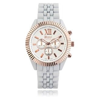 Geneva Platinum Metallic Link Watch
