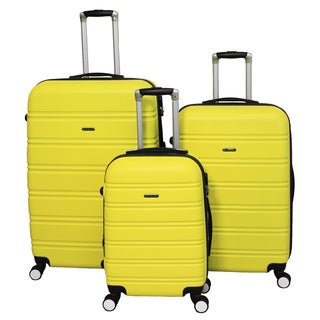 World Traveler Regis 3-piece Lightweight Hardside Expandable Spinner Luggage Set