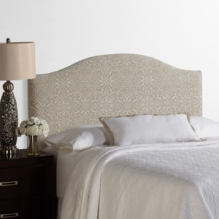 Humble + Haute Parker Full Size Taupe/Ivory Arched Upholstered Headboard