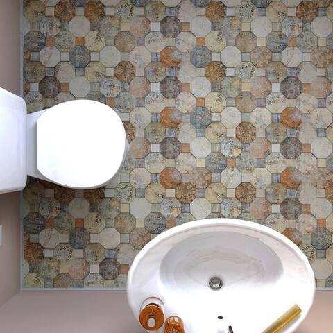 SomerTile 17.75x17.75-inch Silix Decor Ceramic Floor and Wall Tile (10 tiles/22.5 sqft.)