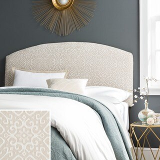 Humble + Haute Parker Taupe/Ivory Curved Upholstered Headboard