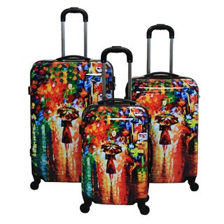 Paris Nights 3-piece Hardside Lightweight Expandable Upright Spinner Luggage Set