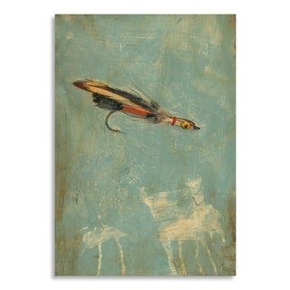 Gallery Direct Benjamin Deal 'Fly Fishing I' Printed on Birchwood Wall Art