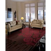 Nourison Skyland Brown Red Rug - 8' x 11'