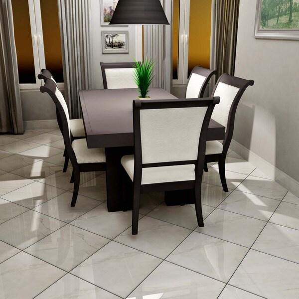 Somertile 17 75x17 75 Inch Maya Blanco Ceramic Floor And