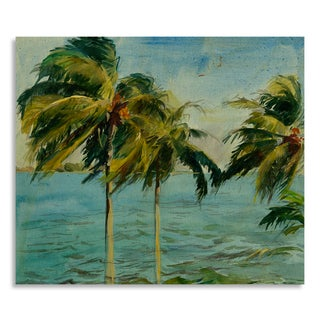 Gallery Direct Allyson Krowitz 'Aqua Bay' Printed on Birchwood Wall Art