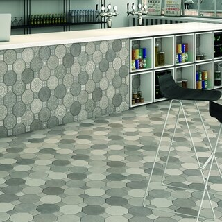 SomerTile 17.75x17.75-inch Imagina Decor Ceramic Wall Tile (Case of 10)
