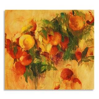 Gallery Direct Allyson Krowitz 'Oranges ' Printed on Birchwood Wall Art