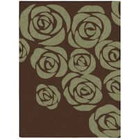 Nourison Skyland Brown Green Rug (8' x 11')