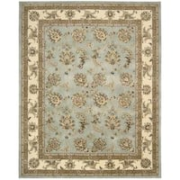 Nourison Silk Touch Blue Rug - 7'9 x 9'9
