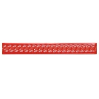 SomerTile 1x8-inch Trenzas Roja Moldura Ceramic Rope Pencil Trim Wall Tile (Pack of 12)