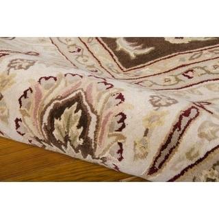 Nourison Silk Touch Blue Brown Rug (5' x 8')