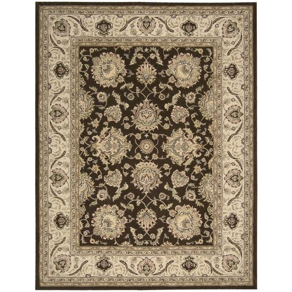 Nourison Silk Touch Brown Rug (5' x 8')