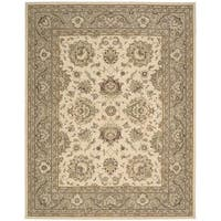 Nourison Silk Touch Ivory Camel Rug (5' x 8')