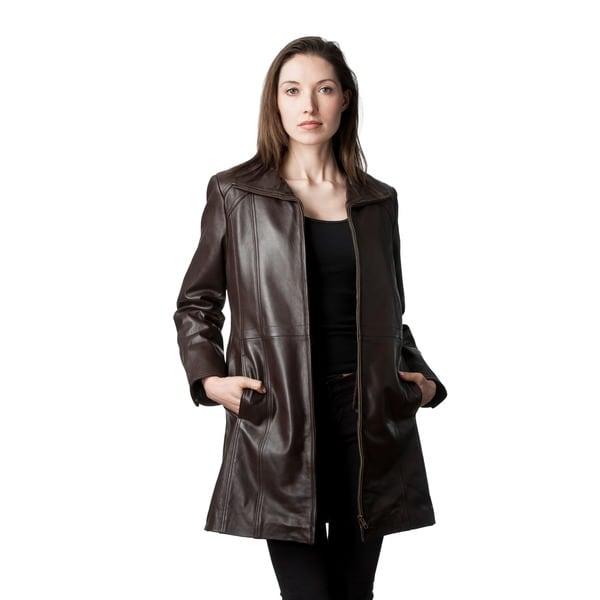Mason & Cooper Marilyn Leather Walking Coat