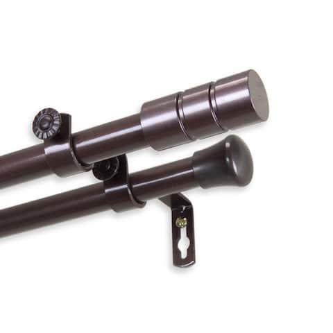 InStyleDesign Greyor Adjustable Double Curtain Rod