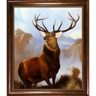 Sir Edwin Henry Landseer 'Monarch of the Glen' Hand Painted Framed Canvas Art