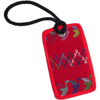 Recycled Handmade Mayan Luggage Tag