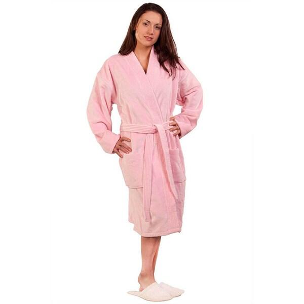 66becb1ea8 Shop 100-percent Pure Turkish Cotton Unisex Terry Velour Kimono Bathrobe -  Free Shipping On Orders Over  45 - Overstock - 10521673