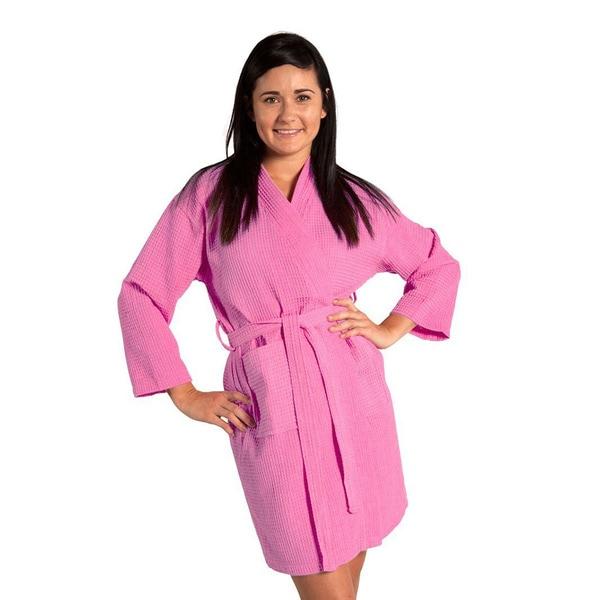 179be090dc Shop Lightweight Waffle Kimono Unisex Spa Robe Square Pattern (One ...