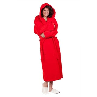 100-percent Pure Turkish Cotton Unisex Hooded Terry Velour Bathrobe