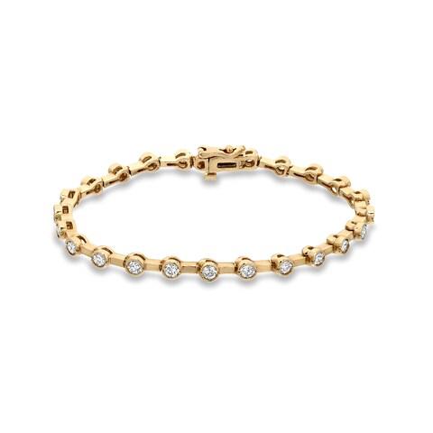 Auriya 14k Yellow Gold 2 3/4ct TDW Round Diamond Tennis Bracelet