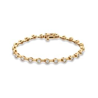 Auriya 14k Yellow Gold 2 3/4ct TDW Round Cut Diamond Bracelet (I-J, VS1-VS2)