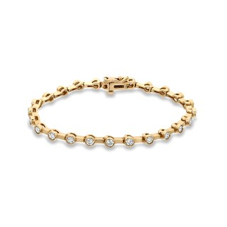 Auriya 14k Yellow Gold 2 3/4ct TDW Round Diamond Tennis Bracelet