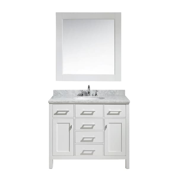 Shop Design Element London 42 Inch Single Sink Vanity Set In White Finish Free Shipping Today