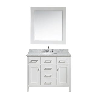 Design Element London 42-inch Single Sink Vanity Set in White Finish