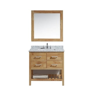 Design Element London 36-inch Single Sink Vanity Set in Honey Oak Finish