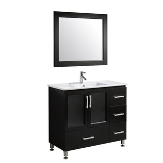 Design Element Stanton 40-inch Single Sink Vanity Set in Espresso Finish
