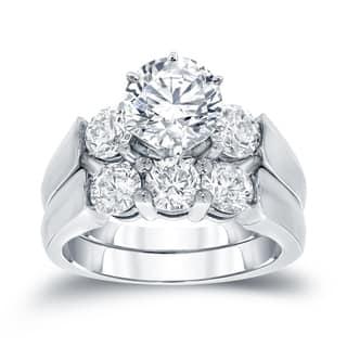 Auriya 14k White Gold 2ct TDW Certified Round-cut Diamond Bridal Ring Set|https://ak1.ostkcdn.com/images/products/10521793/P17605072.jpg?impolicy=medium