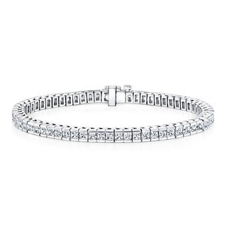 Auriya 14k Gold 4ct TDW Princess Cut Diamond Tennis Bracelet (G-H, I2-I3)