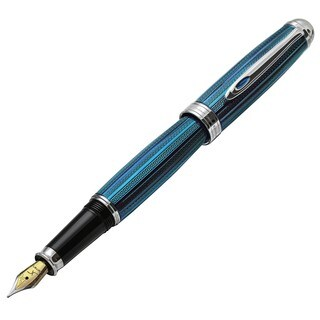 Xezo Freelancer Venetian Blue Weighty Brass Fountain Pen