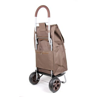 As Seen On TV Trolley Dolly Rolling Removable Shopper Tote