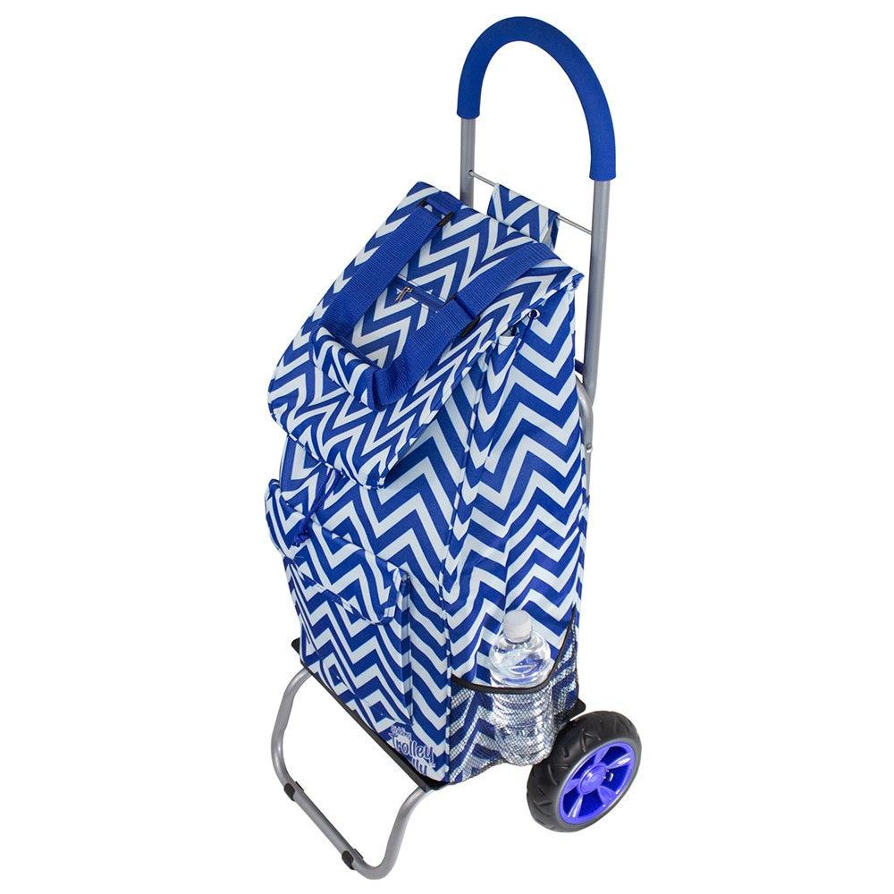 As Seen On TV Blue Chevron Trendy Trolley Dolly Rolling S...