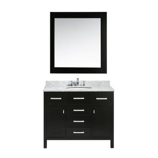 Design Element London 42-inch Single Sink Vanity Set in Espresso Finish