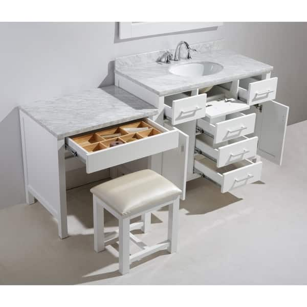 Shop Design Element London 72 Inch Single Sink White Vanity Set