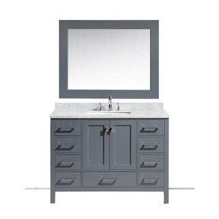 Design Element London 48-inch Single Sink Vanity Set in Grey Finish