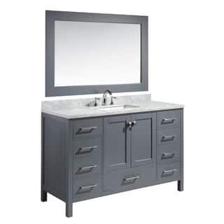 Design Element London 54-inch Single Sink Vanity Set in Grey Finish