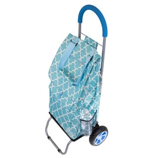 As Seen On TV Moroccan Tile Trendy Trolley Dolly Rolling Shopper Tote