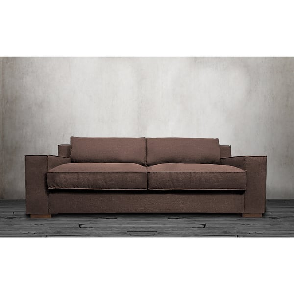 Modern Linen Fabric Sofa With Wide