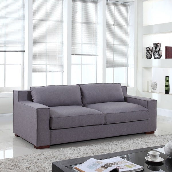 deep seated sofa uk dimensions bed modern linen fabric wide track arms seat