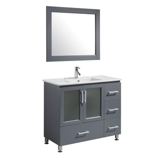 Design Element Stanton 40-inch Grey Finish Single Sink Vanity Set
