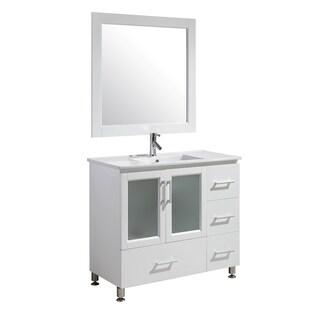 Design Element Stanton 40-inch Single Sink Vanity Set in White Finish